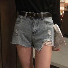 Mihoshop Ulzzang Korea Women Fashion Clothing 2017 chic all-match new hole show legs denim shorts female //FREE Shipping Worldwide //