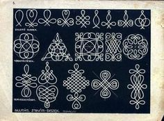 Hungarian folk art / braid or soutache patterns-or wool embroidery possibly-- Motif Soutache, Soutache Pattern, Soutache Tutorial, Embroidery Designs, Embroidery Stitches, Hand Embroidery, Wire Crafts, Jewelry Crafts, Wire Wrapped Jewelry