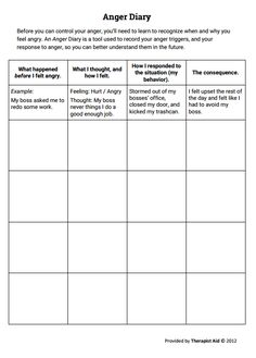 therapy worksheets diaries and worksheets on pinterest