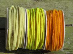 Neu Filzband in allen Regenbogenfarben 4mm breit von Sonja Sonnenschein auf DaWanda.com