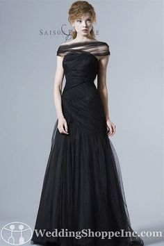 Black is always in season for mother of the groom and mother of the bride dresses! Saison Blanche Mother of the Bride Dresses 6051 from the Wedding Shoppe, http://www.weddingshoppeinc.com