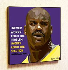 Shaquille ONeal NBA Backetball Motivational Quotes Wall Decals Pop Art Gifts Portrait Framed Famous Paintings on Acrylic Canvas Poster Prints Artwork Geek Decor Wood *** To view further for this item, visit the image link.