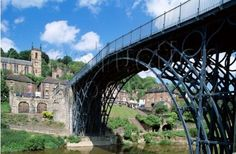 Ironbridge Gorge - Shropshire, England. Birthplace of the industrial revolution.