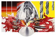 The Swimmer In The Econo-mist #3, 1997-98. (James Rosenquist)