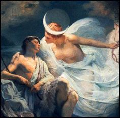 Selene visits the sleeping Endymion frequently.
