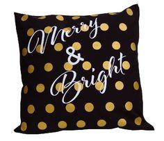 Gold polka dots christmas pillows