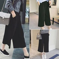 Buy Melon Juice Cropped Wide Leg Pants at YesStyle.com! Quality products at remarkable prices. FREE WORLDWIDE SHIPPING on orders over US$35.