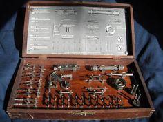 antique dentist dental tool set