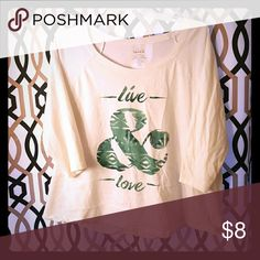 3/4 Sleeve T-Shirt Live & love. Excellent motto. torrid Tops Tees - Long Sleeve