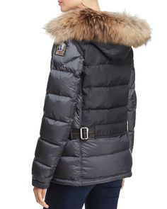 Parajumpers Lynn Fur Trim Down Coat