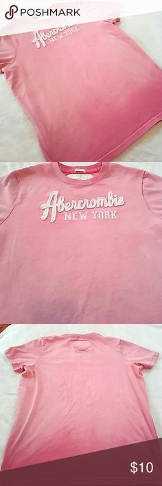 "Abercrombie & Fitch Ombre Tee- Mens Mens ombre tee from Abercrombie & Fitch. Colors are varying shades of pink with darker pink at bottom. Abercrombie logo is in a creamy white. Red stitching. Muscle fit. 21"" pit to pit. 100% cotton. In EUC. Abercrombie & Fitch Shirts Tees - Short Sleeve"