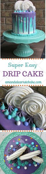 Super easy drip cake tutorial! Would make a perfect birthday cake!
