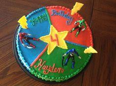 6th Birthday Parties, Birthday Fun, Birthday Celebration, Birthday Ideas, Power Ranger Cupcakes, Power Ranger Cake, Power Rangers Birthday Cake, Birthday Sheet Cakes, Transformer Birthday