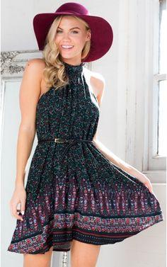 Higher Ground Dress in Black Paisley | SHOWPO Fashion Online Shopping