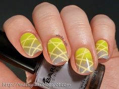 I had quite a bit of fun playing with striping tape and a few of the beauties from the Barielle Sweet Treats collection. The resulting mani. Funky Nail Art, Funky Nails, Cool Nail Art, Pretty Toes, Pretty Nails, Nice Nails, Nail Polish Art, Nail Polish Colors, Different Nail Designs