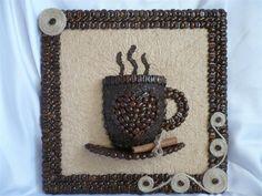 Картины из кофейных зерен фото