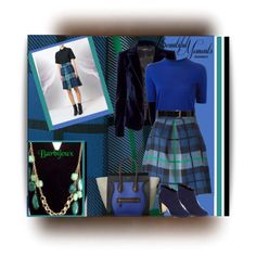 Pleated tartan skirt & bijoux by Barbijoux