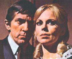 Jonathan Frid and Lara Parker in Dark Shadows (1966)