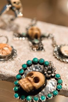 Hand made, unique and inspired by Southwest and Mexican folk art via Schmidt Jewelry in Round Top TX.  https://www.facebook.com/Theroundtopexperience
