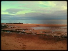 Spittal Beach, Berwick upon Tweed in Northumberland on a sunny November