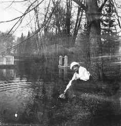 Grand Duchess Tatiana Nikolaevna Romanova of Russia at Tsarskoe Selo in June 1917.A♥W