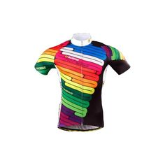 Bit lairy, but the concept of a switchback design snaking up the jersey.