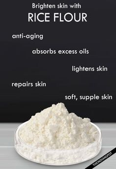 Brighten your skin with rice flour