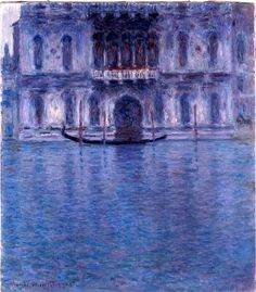 Claude Monet - Palazzo Contarini, Venedig, 1908 I like the different values of blue in the painting. Although the painting uses the same color it looks like it uses many other colors. Claude Monet, Monet Paintings, Landscape Paintings, Artist Monet, Camille Pissarro, Wow Art, Impressionist Paintings, Wassily Kandinsky, Art And Architecture