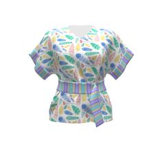 Named Clothing Sointu Kimono Tee made with Spoonflower designs on Sprout Patterns. Designs by J9designs and Karwilbe Designs.