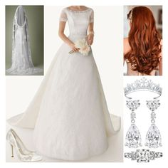 """""""Flashforward #53: Princess Helena of Sussex and North-Rhine Westphalia's bridal outift at her wedding to Seargent James Lancaster at Salle Church (2040)"""" by innominata ❤ liked on Polyvore"""