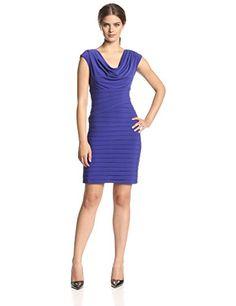 Adrianna Papell Women's Asymmetrical Tucked Cowl Neck Dress, Iris, 8 Adrianna Papell http://www.amazon.com/dp/B00MPGLUQ0/ref=cm_sw_r_pi_dp_4eNowb1GZG5JX