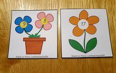 Gratis material till förskolebarn: addition med blommor 11-20
