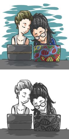 Delphine Cormier & Cosima Niehaus by T. Orphan Black, Drag Queens, Delphine Cormier, Tatiana Maslany, Fan Art, Cute Gay, Dream Team, Back To Black, Spirit Animal