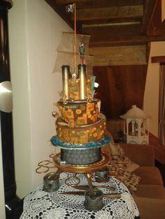 This is the rear view of the cake...