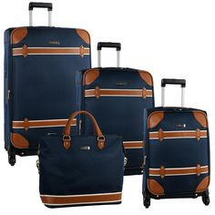 Anne Klein Vintage Four Piece Luggage Set 2770P03 - Luggage Pros