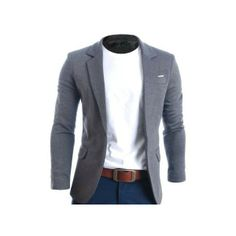 FLATSEVEN Mens Slim Fit Casual Premium Blazer Jacket Grey XL * Continue to the product at the image link. (This is an affiliate link) Mode Masculine, Sharp Dressed Man, Well Dressed Men, Fashion Mode, Urban Fashion, Fashion Brand, Fashion Fall, Fashion Photo, Fashion Editor
