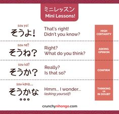 """easy-japan:  """"Today's card will help you to understand difference nuance between そうよ、そうね、そうか、and そうかな。。。BUT THAT'S NOT ALL! By understanding them, you will also be able to get better understand with ending-particle (よ,ね and か) ! It's like hitting 2..."""