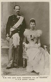 The late King Frederik VIII. of Denmark with Queen Louise | Flickr - Photo Sharing!