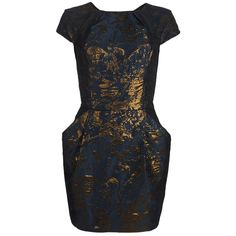 Opulence Dress ($198) ❤ liked on Polyvore featuring dresses, vestidos, robes, short dresses, midnight, glitter dress, print dress, allsaints, slimming dresses and jacquard dress