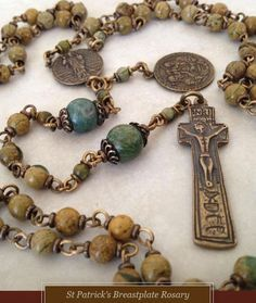 Blue Pearled Copper Rosary Beads | shellysuniquejewelry - Jewelry ...