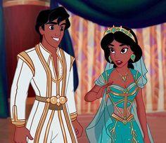 Princess Jasmine and Aladdin as Prince Ali from Disney& live action movie, . Disney Pixar, Film Disney, Disney Fan Art, Disney And Dreamworks, Disney Cartoons, Disney Animation, Disney Magic, Disney Movies, Disney Princess Jasmine