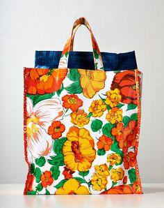 large Lena Oilcloth Market Bag