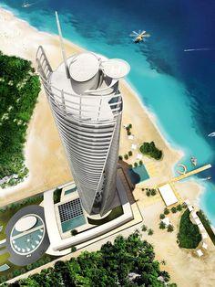 Emirates Pearl Hotel by Söhne & Partner Architekten Close Proximity, Hotel S, Abu Dhabi, 3 D, Pearls, Architecture, World, Beach, 3d Printing
