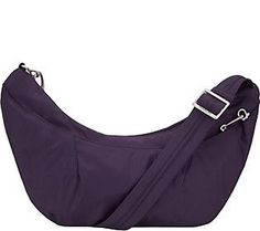 Travelon Anti-Theft Crescent Sling Hobo Bag with RFID