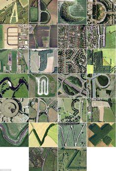 Google Earth Alphabet Art
