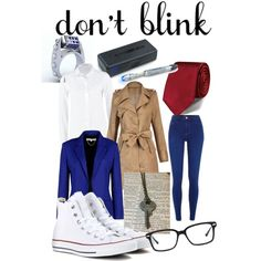 10th Doctor by lucy-genda on Polyvore featuring polyvore, fashion, style, Lee, Vanessa Bruno, River Island, Converse and Original Penguin