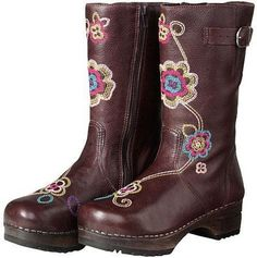 NWT Hanna Andersson Embroidered Clog Brown Boots 26 8 - eBay (item 310159684745 end time Oct-02-09 19:24:53 PDT)