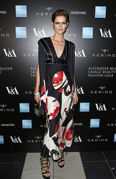 Stella Tennant at the Opening Night Gala of Alexander McQueen, Savage Beauty