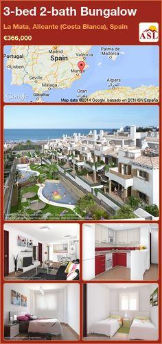 3-bed 2-bath Bungalow in La Mata, Alicante (Costa Blanca), Spain ►€366,000 #PropertyForSaleInSpain
