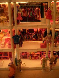 Barbie Store Plastic Shelving Units, Barbie Store, Barbie House, Diy, Furniture, Shopping, Home Decor, Decoration Home, Plastic Shelves